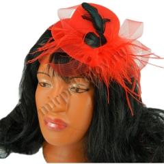 Шляпа Дамская с пером (mini)