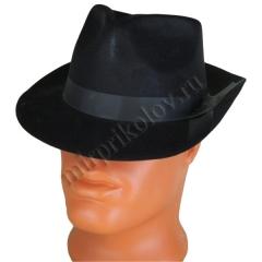Шляпа Гангстера с черной лентой