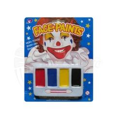 Грим клоуна «Радуга»