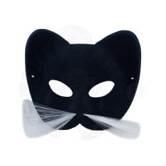Полумаска Кот черный