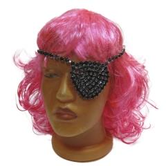 Повязка на глаз «Пиратка» с камнями