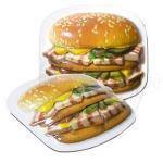 Гамбургер С салом
