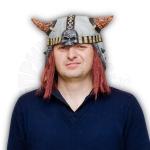 Шлем Викинг с волосами