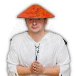 Шляпа Китайская с косичкой