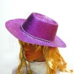 Шляпа Пластик с блестками (3 цв.)